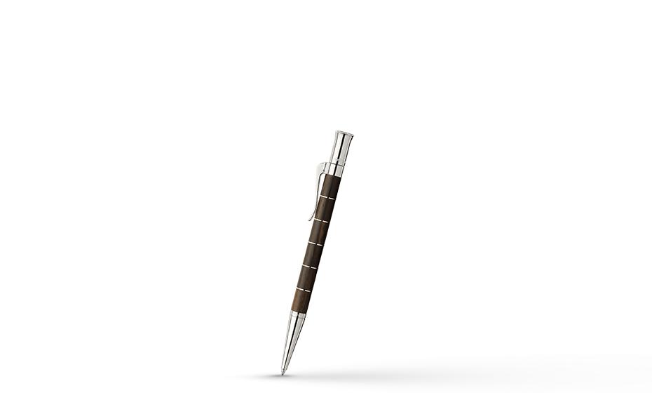 Шариковая ручка Graf von Faber-Castell Anello Grenadilla, дерево, металл, платина, коричн  145811