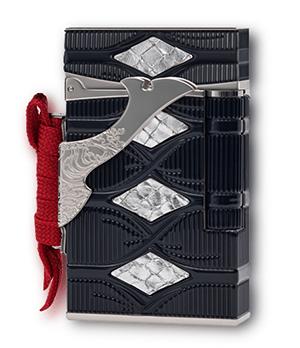 Зажигалка S.T. Dupont Samurai Limited Edition Ligne 2, лак, темно-синяя  1600114