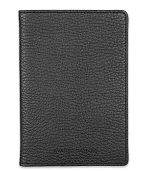 Обложка Avanzo Daziaro GRAIN, для паспорта, кожа, черная  AD-018-191301'