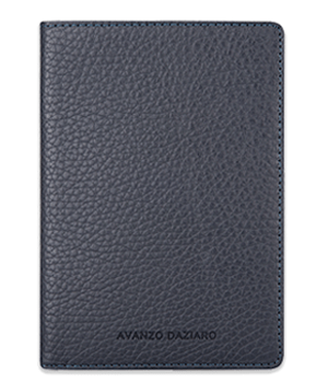 Обложка для паспорта Avanzo Daziaro GRAIN, для паспорта, кожа, синяя  AD-018-191303'