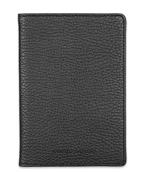 Обложка Avanzo Daziaro GRAIN, для документов, кожа, черная  AD-018-211301'