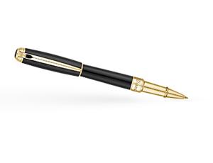 Чернильная ручка S.T. Dupont Line D Medium, лак, позолота, черная  412101М