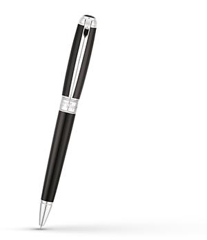 Шариковая ручка S.T. Dupont Line D Medium, лак, палладий, черная  415100M