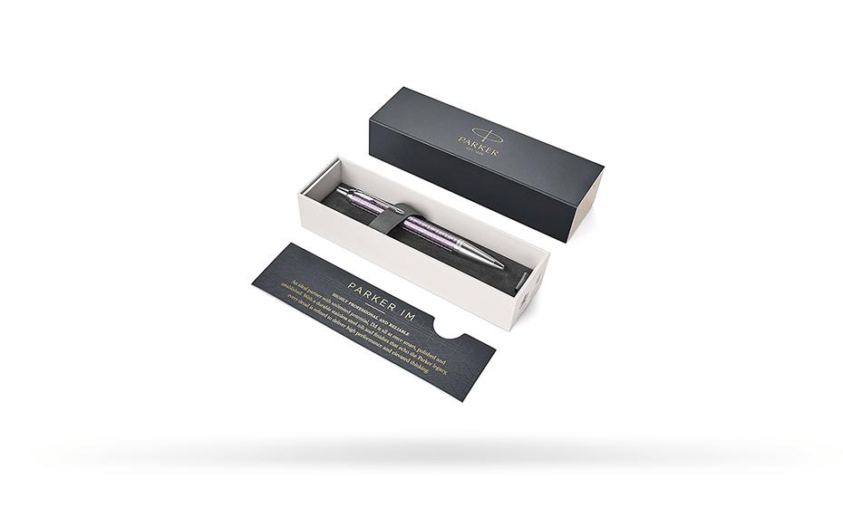 Шариковая ручка Parker Parker IM Premium, F323, Dark Violet CT, латунь, ф  1931638 351179316383