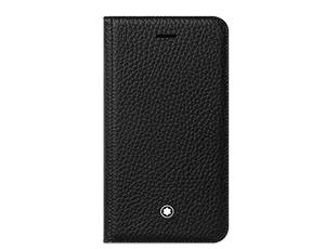 Чехол для IPhone 8 Montblanc Montblanc, чехол-книжка, зернистая кожа, черный  118409