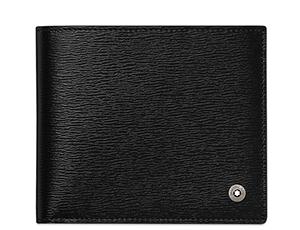 Бумажник Montblanc 4810 Westside, 4сс, отделение для монет, кожа, чер  114693