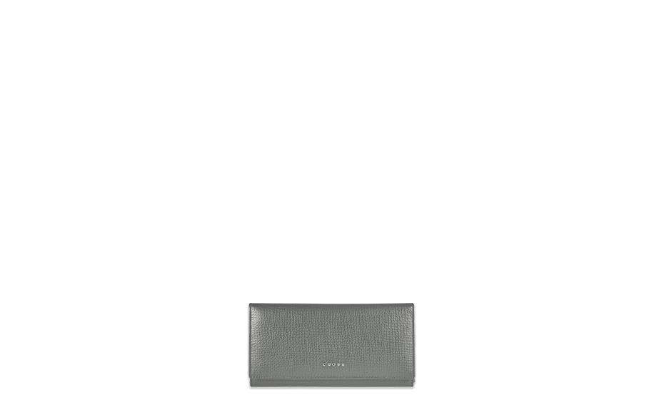 Кошелек Cross Cross RTC, кожа, на кнопке, серый  AC778288N-18