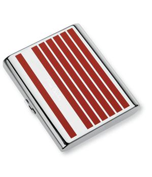Портсигар Pierre Cardin Pierre Cardin, сплав цинка, хром, лак, красные пол  P-520-8