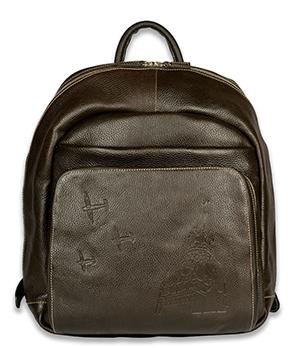 Рюкзак Gourji Дейнека. Полет, кожа, коричневый  2362./L.BOP.01'