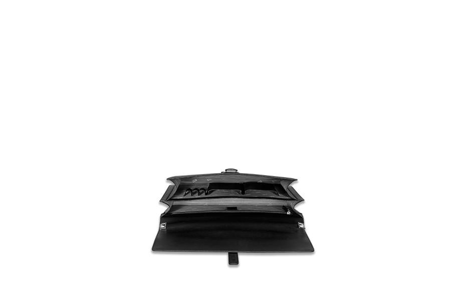 Портфель Montblanc 4810 Westside, кожа, черный  114679