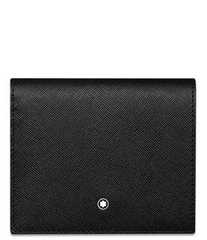 Портмоне Montblanc Montblanc Sartorial, 3cc, кожа, черный  116386