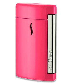 Зажигалка S.T. Dupont MiniJet, хром, розовая  10514