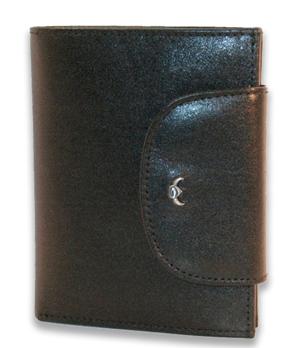 Портмоне Golden Head Colorado Classic, клапан, на кнопке, кожа, черный  123705-8