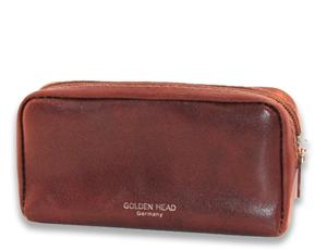 Ключница Golden Head Golden Head, на молнии, кожа, коричневая  506805-2