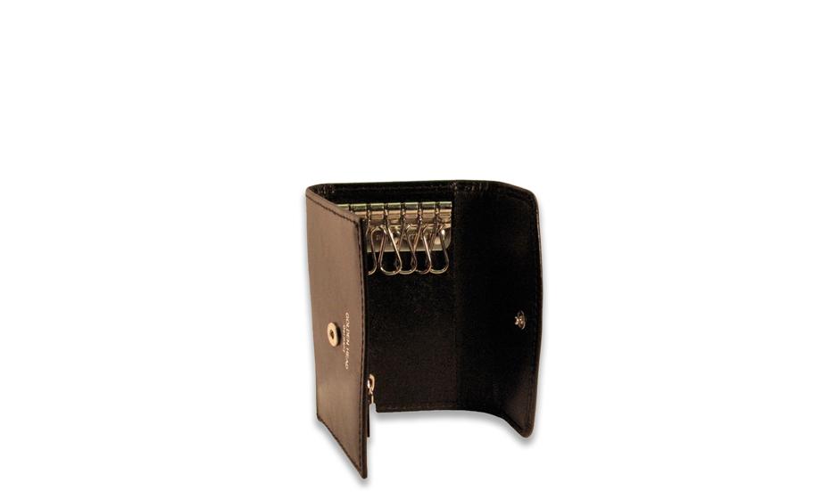 Ключница Golden Head Golden Head, кожа, на кнопке, черная  508005-8