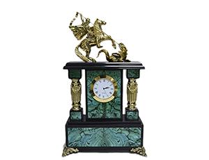 Часы Старая Грамота каминные из малахита