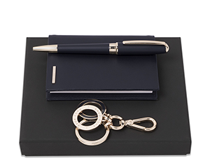 Набор Hugo Boss блокнот+ручка шариковая+брелок  HPBKM707N