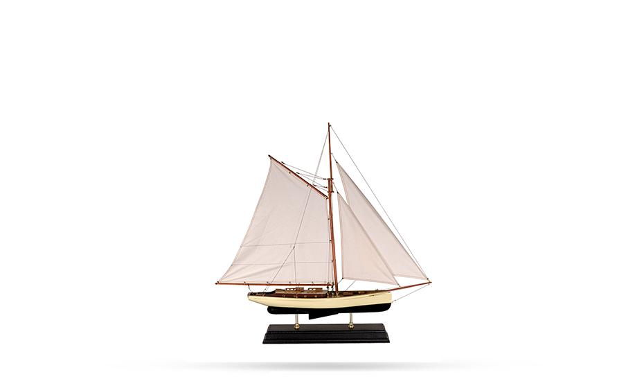 Яхта Authentic Models Яхта классическая 1930, большая, бронза  AS135