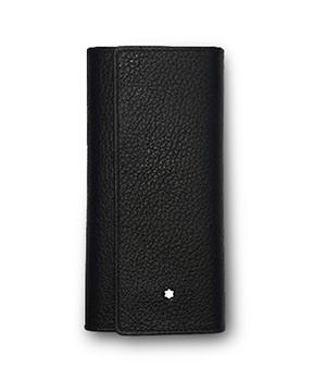 Ключница Montblanc натуральная кожа, клапан на кнопке, 6 держателей д  118965