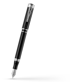 Перьевая ручка Montegrappa Ducale-Юстиция, смола, черная  DUCC-IUST-FP