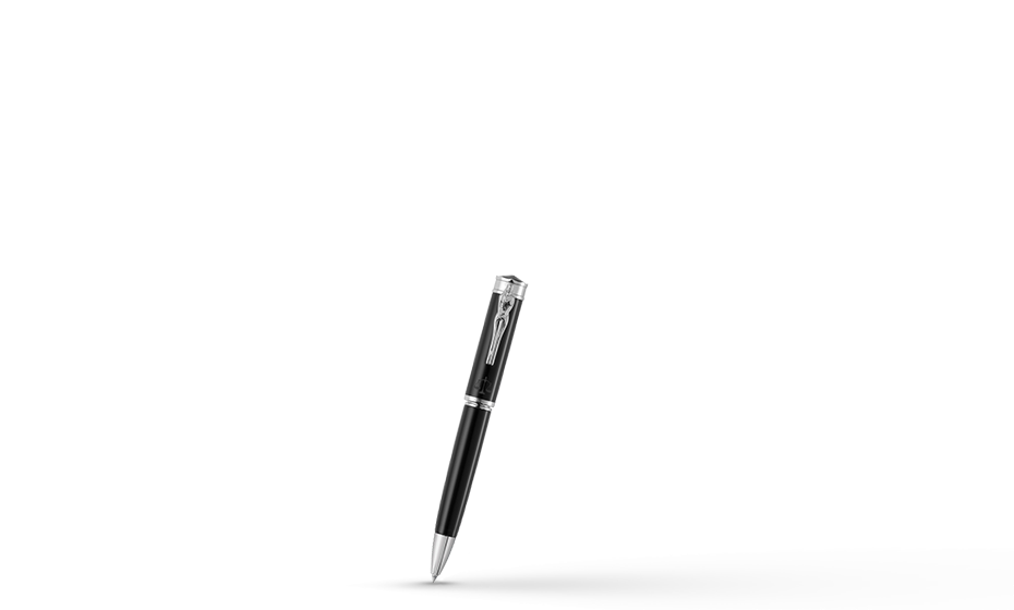Шариковая ручка Montegrappa Ducale-Юстиция, смола, черная  DUCC-IUST-BP