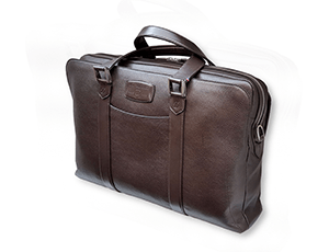 Сумка для ноутбука S.T. Dupont Soft Diamond Graine, плечевой ремень, кожа, коричн  181285SS