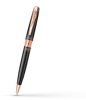 Шариковая ручка Pierre Cardin Secret, позолота, лак, сталь, латунь, черная  PC1062BP