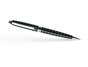 Шариковая ручка Pierre Cardin Progress, сталь, хром, узор сетка, черная  PC5000BP