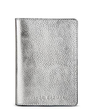 Обложка Avanzo Daziaro GRAIN, для паспорта, кожа, серебристая  AD-018-1019S01'