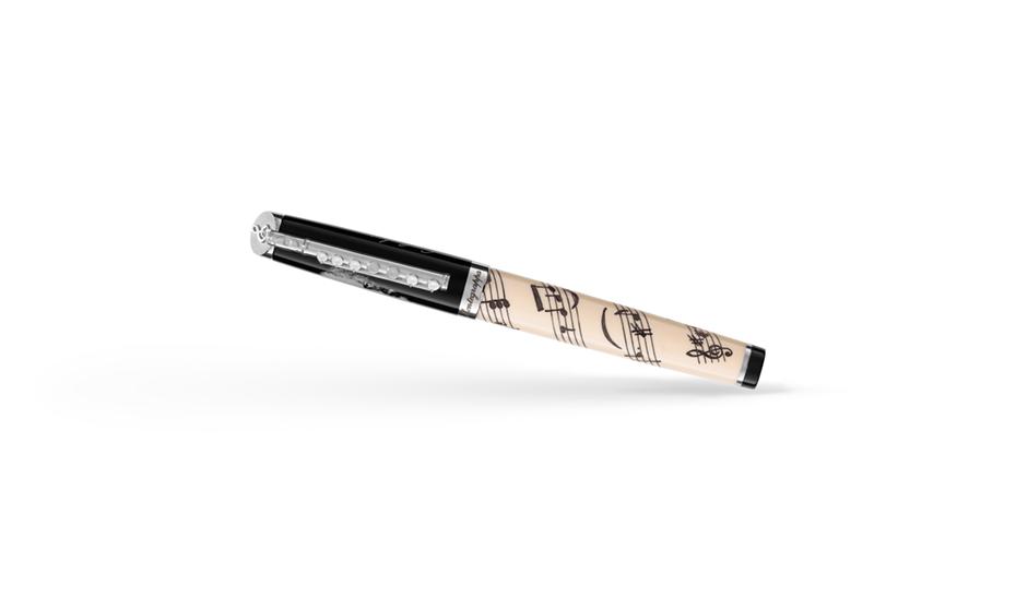 Чернильная ручка Montegrappa Le Чайковский - Белый Лебедь, смола, серебро, черн  TCHAIK-W-RB