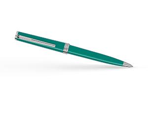 Шариковая ручка Montblanc смола, платиновое напыление, поворотный механизм  117661