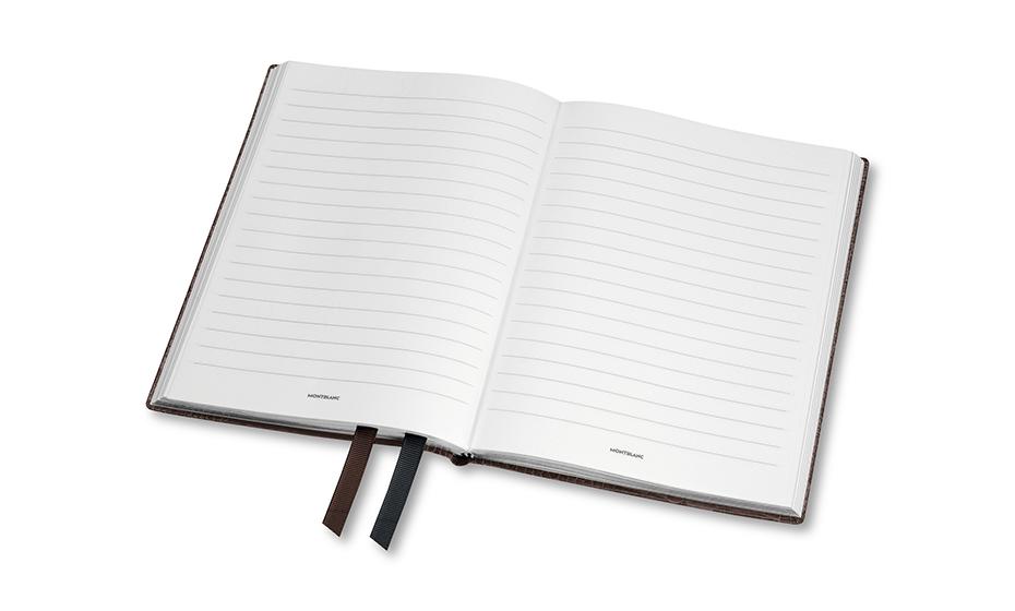 Блокнот Montblanc кожа с тиснением, линованная бумага, 96 листов, 85  118025