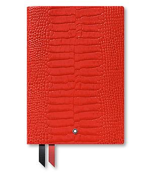 Блокнот Montblanc кожа с тиснением, линованная бумага, 96 листов, 85  118029