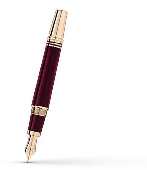 Перьевая ручка Montblanc смола, золотое напыление, поршневой механизм, перо  118050