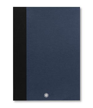 Блокнот Montblanc #146,в линейку для Augpaper, кожа, синий  118993