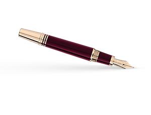 Перьевая ручка Montblanc смола, золотое напыление, поршневой механизм, перо  118051