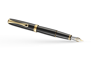Перьевая ручка Diplomat Diplomat Excellence A2 Black Lacquer Gold, позолот  D40203013