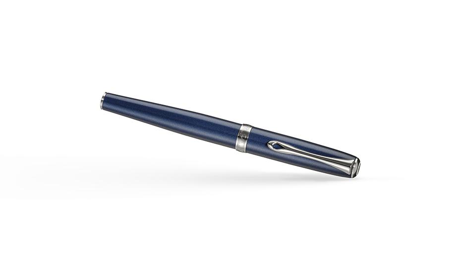 Перьевая ручка Diplomat Diplomat Excellence A2 Midnight Blue Chrome, лак,  D40209013