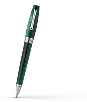 Шариковая ручка Montegrappa FELICITA Зеленый лес, сталь, жемчужная смола, зе  FEL-G-BP