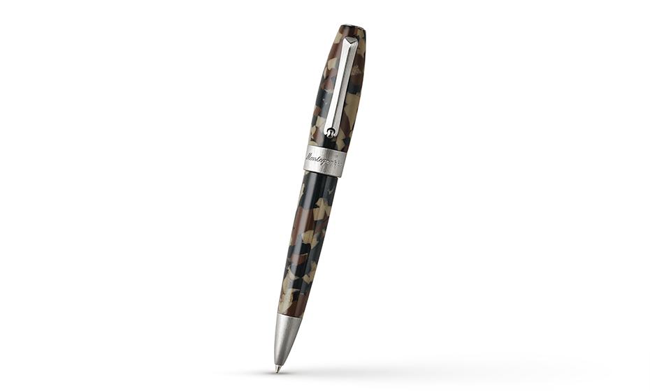 Шариковая ручка Montegrappa Fortuna Camouflage, смола, сталь, камуфляж  FORT-CAM-BP