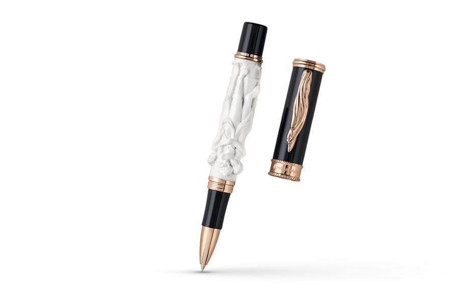 Чернильная ручка Montegrappa Canova, смола, бронза, черная  CANOVA-RB CANOVA-RB