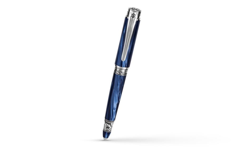 Шариковая ручка Montegrappa Ernest Hemingway перламутровый целлулоид, отделка из серебра, механизм поворотного действия HEM-FISH-BP