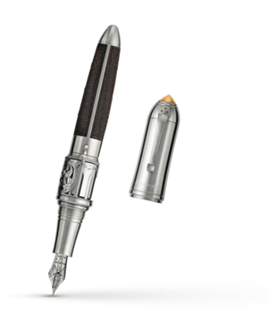 Перьевая ручка Montegrappa Револьвер перо F, сталь, латунь, дерево  RLE-FP