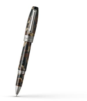 Чернильная ручка Montegrappa Fortuna camouflage, смола, сталь, камуфляж  FORT-CAM-RB