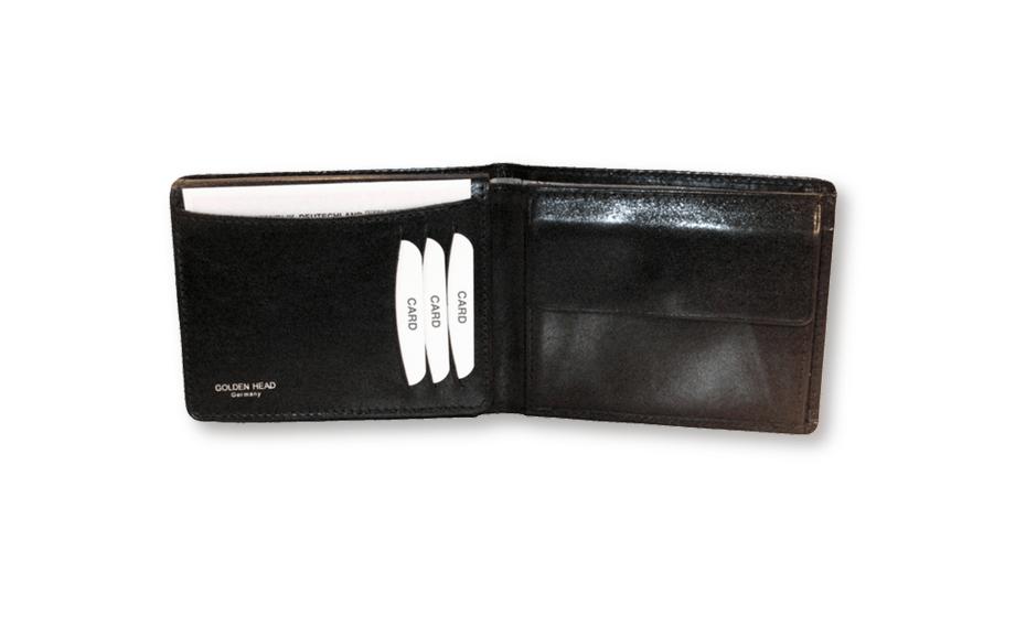 Портмоне Golden Head Colorado Wallet black, кожа, черное  142005-8