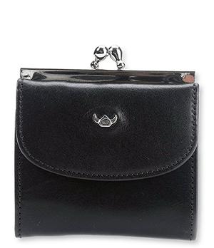 Портмоне Golden Head Colorado Wallet black, на защелке, кожа, черное  203005-8