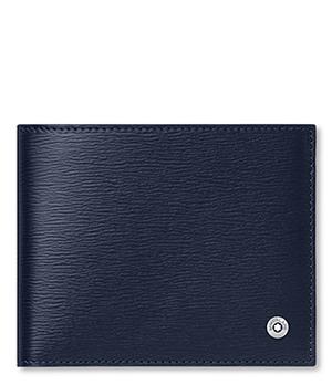 Бумажник Montblanc 4810 Westside, 6сс, кожа, темно-синий  118653