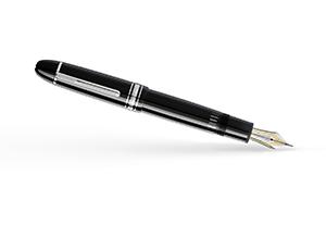 Перьевая ручка Montblanc 149, перо F, платина, смола, черная  114228