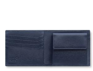 Бумажник Montblanc 4810 WESTSIDE, 8сс, кожа, синий  118656