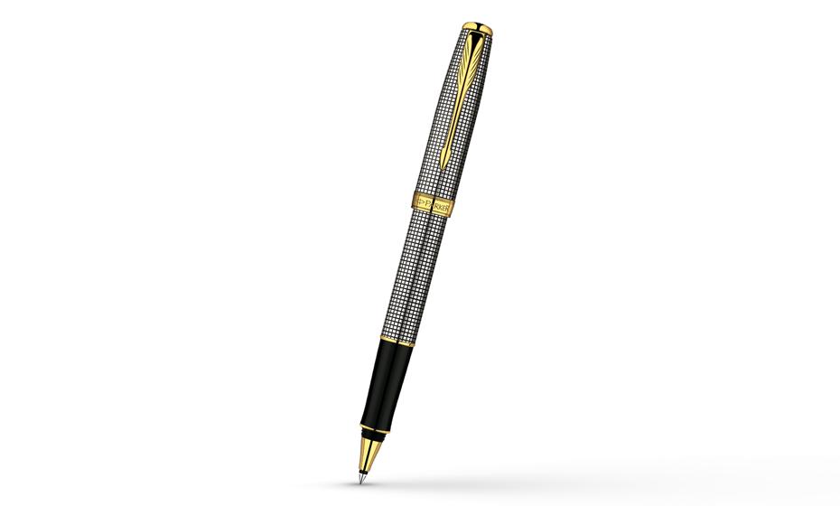 Чернильная ручка Parker Sonnet, серебро 925 пробы, гравировка, позолота 23  S0808160-S
